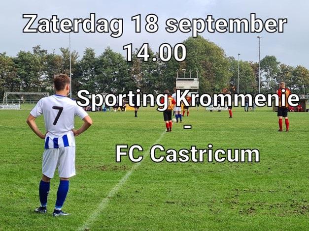 VOORBESCHOUWING SP. KROMMENIE – FC CASTRICUM